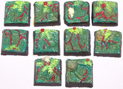 10x jungle terrain 20mm bases