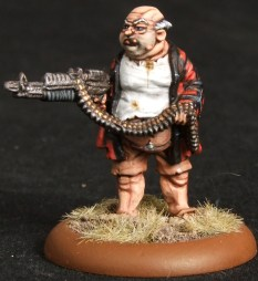 Fat Veteran with machine gun