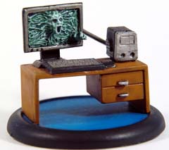 Possessed Computer with desk