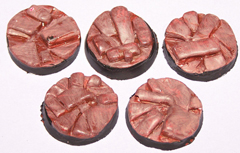 12x Parched Earth 25mm bases.