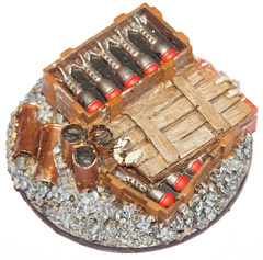 1x Ruined Buildings 60mm objective marker.
