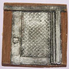 2x Small metal doors