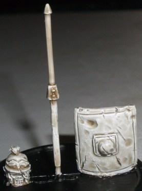 Skeleton Roman Legionary weapon sprue and head