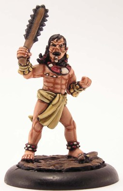 Tribal Warrior with a club