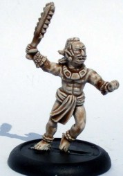 Tribal Warrior with a club, running