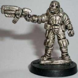 Police Hero with single pistol