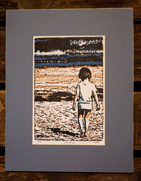 Beach-Fine-Arts-Matted-Black-Cat-Gallery-Owego