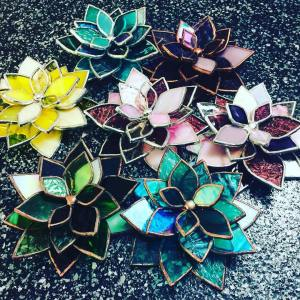 Stained-Glass-Mixed-Glass-Succulents