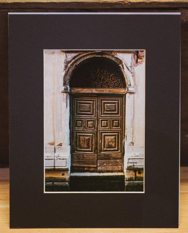 Venice-Doorway-Photography-Matted-Black-Cat-Gallery-Owego