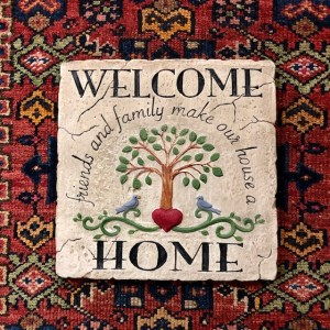 """Welcome Home"" Beeswax Plaque"