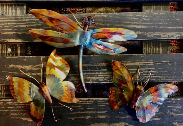 Copper Butterfly & Copper Dragonfly