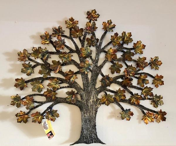 Copper and Steel Maple Tree - Black Cat Gallery Owego, NY