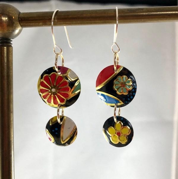 flowered vintage earrings