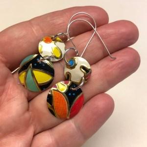 Art Deco earrings 2 tier