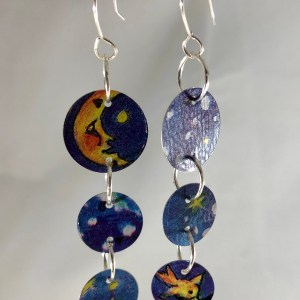 moon stars earrings