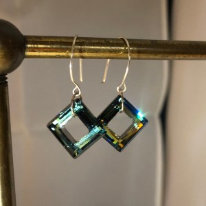 swarovski crystal earrings sterling wires