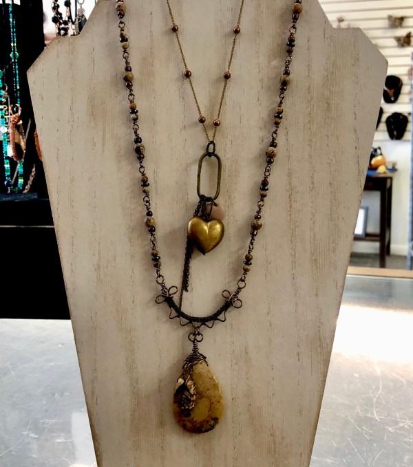jasper necklace heart