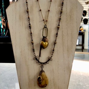 jasper necklace heart