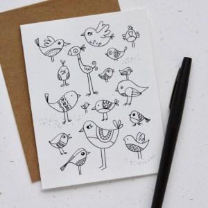 Bird Doodle Note cards
