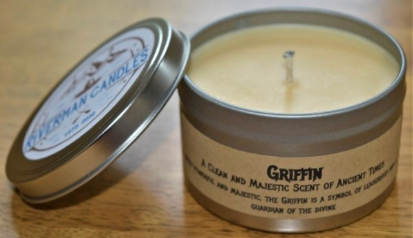 Griffin hand crafted soy candle