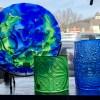 Blue Goddess Celtic green earth