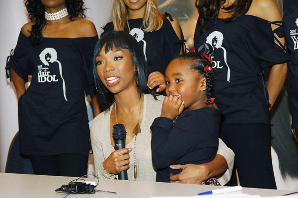 Brandy with daughter Sy'Rai