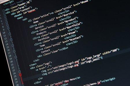 wordpress formatting - programming code on computer screen