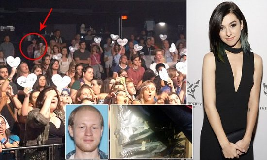 New photos show christina grimmies killer at orlando concert before christina grimmie killer m4hsunfo
