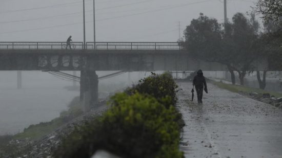 A storm that officials said could be the strongest in years moved into Southern California on Friday.