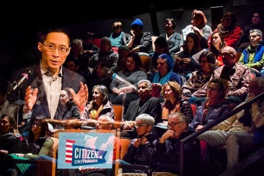 Eric Liu, pictured, leads Civic Saturday events in Seattle every few weeks to encourage people to be active citizens in their communities. The gatherings are modeled on religious services, with sermons, music and a social hour.