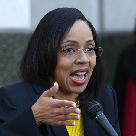 In a press conference on the steps of the Orange County Courthouse, Orange-Osceola State Attorney Aramis Ayala announces that her office will no longer pursue the death penalty as a sentence in any case brought before the 9th Judicial Circuit of Florida, Thursday, March 16, 2017. (Joe Burbank/Orlando Sentinel)