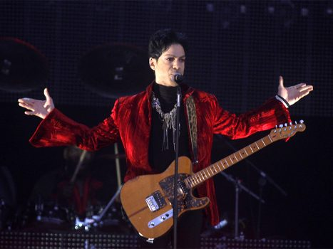 Prince performs on the main stage during Budapest's Sziget music festival on an island in the Danube River on August 9, 2011. Photo courtesy of Reuters/Laszlo Balogh