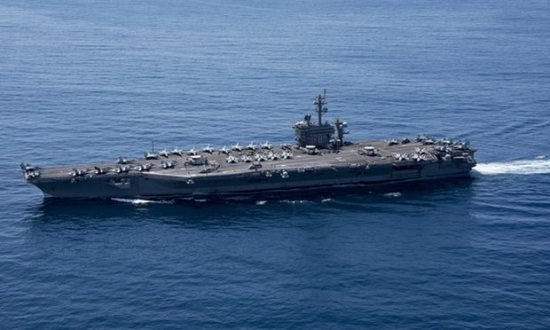 The USS Carl Vinson carrier strike group, which includes Aegis-equipped destroyers, is headed for the Korean peninsula in anticipation of North Korea's sixth nuclear test. (Photograph: US Department of Defense/EPA)