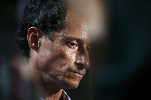 Anthony D. Weiner is a former New York Democratic congressman and candidate for mayor, whose estranged wife, Huma Abedin, was a principal aide to Hillary Clinton. (Credit: Damon Winter/The New York Times)