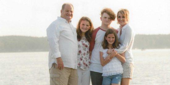 Davis Allen Cripe and his family.