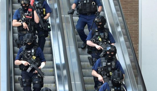 British security was stepped up after the Saturday night attack on London Bridge, where police encountered three knife-wielding terrorists who appeared to be wearing suicide belts and who had killed seven people and wounded dozens of others. (Associated Press)