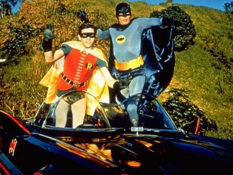Batman (Adam West), right, and Robin (Burt Ward) POWnced on American pop culture with their campy 1960s TV series. (Photo: 20th Century Fox)