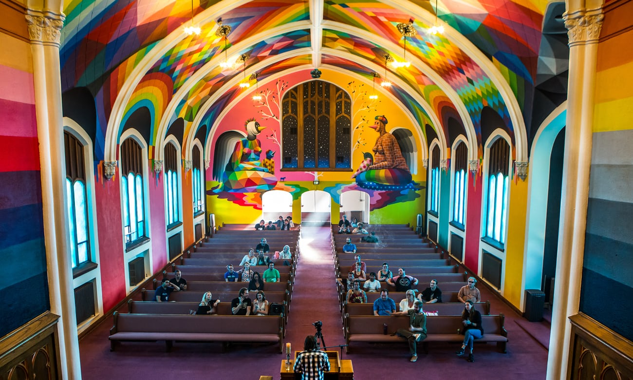 High hopes: members of the congregation in the Church of Cannabis. (Photograph: Ryan David Brown)