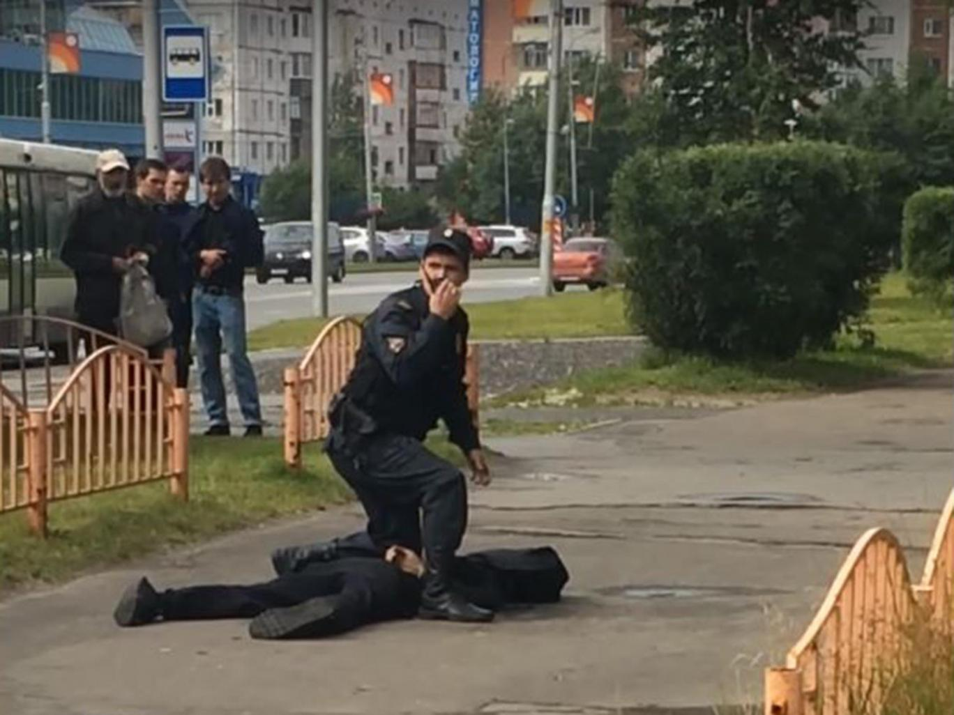 Image result for Knife Attacker In Russian City