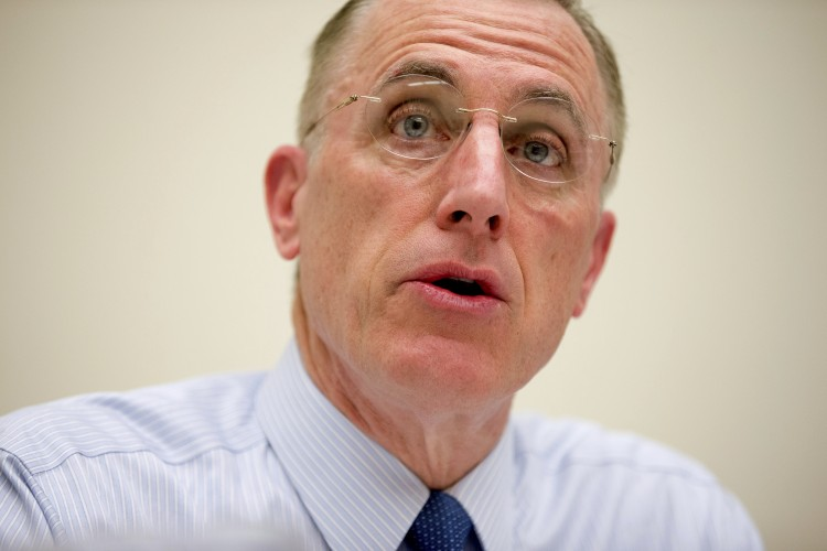Rep. Tim Murphy (R-Pa.) on March 26, 2015. Murphy, caught up in an affair scandal, has announced that he plans to resign Oct. 21. (Andrew Harnik/AP)