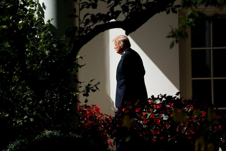 President Trump's legal team is aiming to create the impression that the White House has nothing to hide from Robert S. Mueller III's investigation. (Credit: Doug Mills/The New York Times)