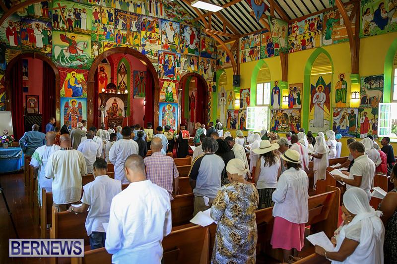 An Ethiopian Orthodox Church service (Bernews)