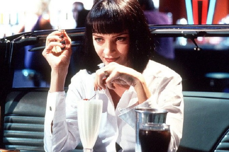 "Uma Thurman as Mia Wallace in Quentin Tarantino's 1994 film, ""Pulp Fiction."" Harvey Weinstein was an executive producer. (Miramax Films)"