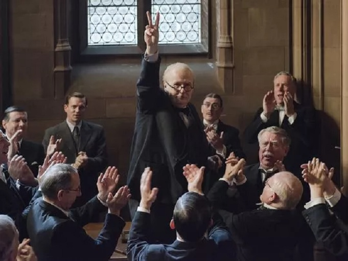 Gary Oldman stars as British statesman Winston Churchill in the World War II drama 'Darkest Hour.' (Photo: Jack English/Focus Features)
