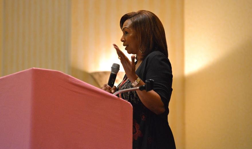 Elder Vanessa Long speaking at a recent conference.