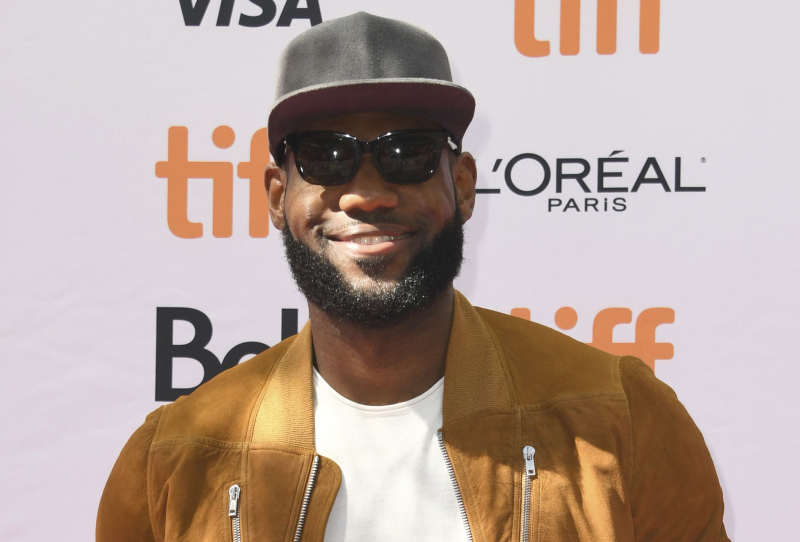 """Executive producer LeBron James attends a premiere for """"The Carter Effect"""" on day 3 of the Toronto International Film Festival at the Princess of Wales Theatre, in Toronto 2017."""