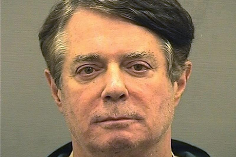 Former Trump campaign manager Paul Manafort is shown in this booking photo in Alexanderia, Virginia, U.S., July 12, 2018.   Alexandria Sheriff's Office/Handout via REUTERS