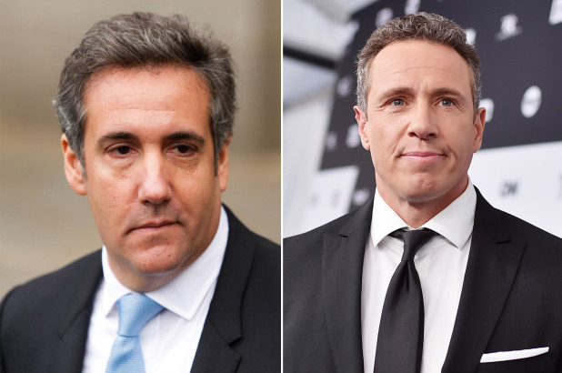 Michael Cohen (left) and Chris Cuomo (Getty Images)