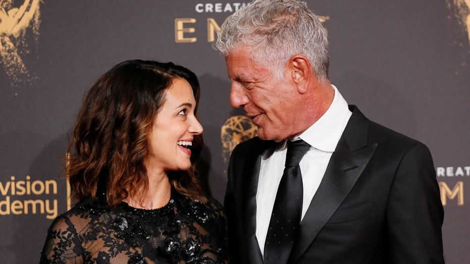 Asia Argento recalled the anger and sadness she felt in the months following Anthony Bourdain's suicide.  (Reuters)