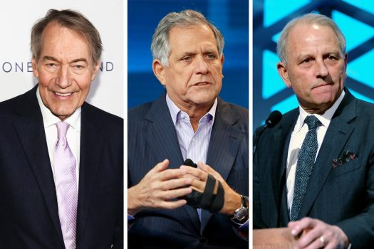 From left, Charlie Rose, Leslie Moonves and Jeff Fager left CBS amid misconduct allegations. Two law firms are investigating, and have interviewed more than 200 current and former CBS employees. (Credit: Andy Kropa/Invision, via Associated Press; Mike Blake/Reuters; Brad Barket/Getty Images)ssssssssssssssssssssssssssssssssssssssssssssssssssssssssss